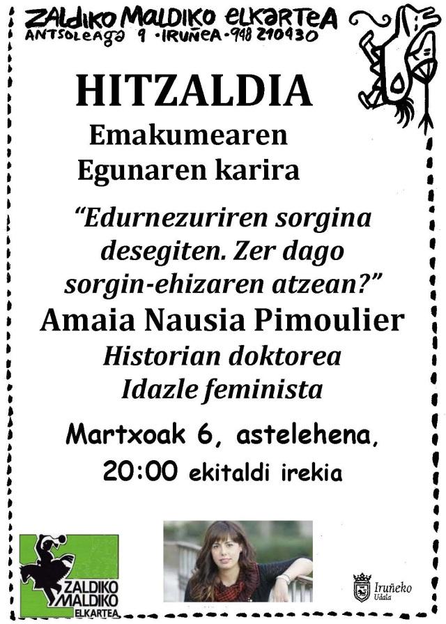 2017 martxoa, Amaia Nausiaren hitzaldia